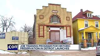 Job training program for historic preservation in Detroit launches