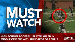 High School Football Player Killed In Middle Of Field With Hundreds Of People - Video