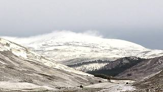 Scottish Highlands covered in snow for the first time this year - Video