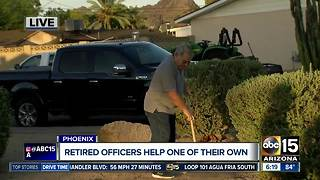 Retired Phoenix officer with terminal illness gets help from brothers, community