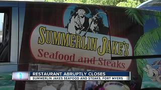 Local restaurant closes doors - Video