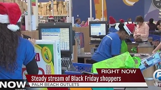Steady stream of Black Friday shoppers - Video