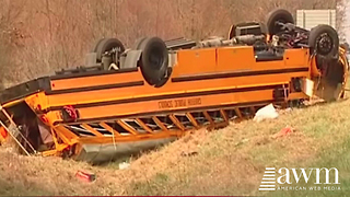 School Bus Involved In Horrible Accident, Driver's Mistake Has Parents Outraged - Video