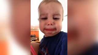 Toddler Has The Clean Up Blues - Video