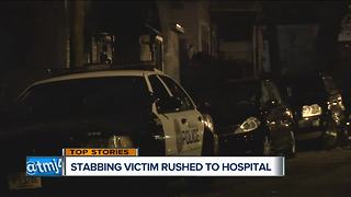Stabbing victim rushed to the hospital - Video
