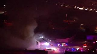 Vacant apartment building fire near I-15, Bonanza - Video