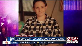 Police: Missing boy in Bartlesville found
