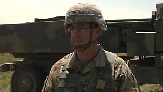 Oklahoma's Field Artillery Brigade conducts live fire training, missiles away! - Video