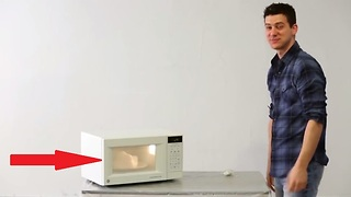 What happens when you microwave this household item? - Video