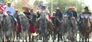 Horse parade in Las Vegas to support Joe Biden