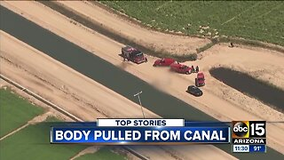 Body pulled from canal in Buckeye