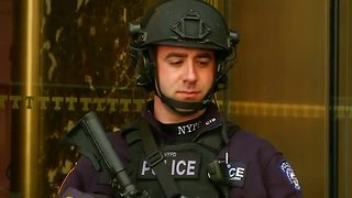 Tight security around Trump Tower disrupts The Big Apple - Video