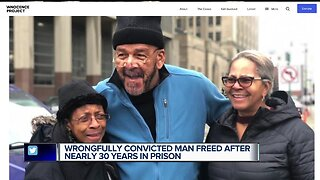 Wrongfully convicted man freed after nearly 30 years in prison