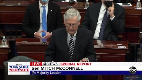 Senate Majority Leader McConnell breaks with Trump, blasts effort to overturn election results