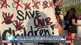 Bakersfield march against child trafficking