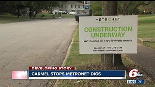 Fishers, Carmel issue 'no-dig' order for Metronet after gas line rupture - Video