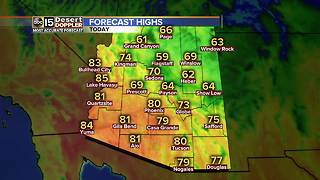 Warm day, no rain in chance for Phoenix - Video