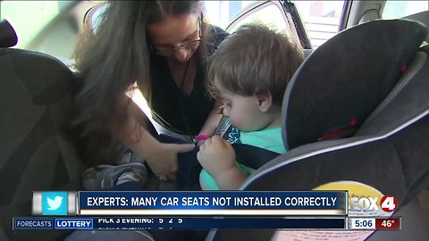 Experts say many car seats are installed incorrectly, making it dangerous for kids