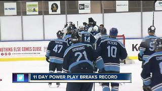 11 Day Power Play breaks record - Video
