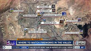 Where to watch fireworks in the valley