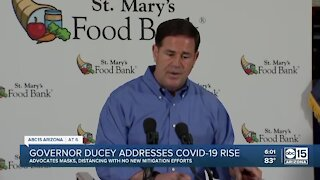Governor Ducey addresses COVID-19 rise in Arizona