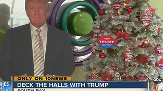 Local couple creates Trump-themed Christmas tree - Video