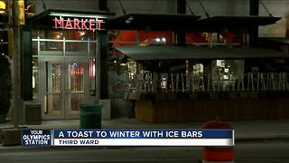 Toasting winter with ice bars - Video
