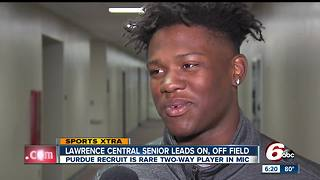 Lawrence Central High School senior leads on the field, among peers - Video