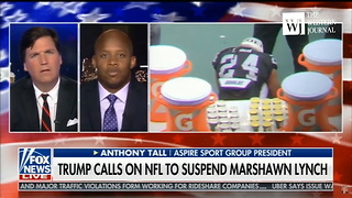 Guest Tried Taking On Tucker Carlson Over Marshawn Lynch - He Didn't Stand A Chance - Video