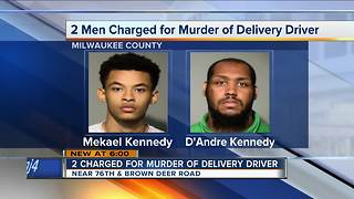 Two charged in murder of delivery driver - Video