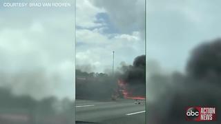 All lanes of SB I-75 closed at I-275 split in Pasco County