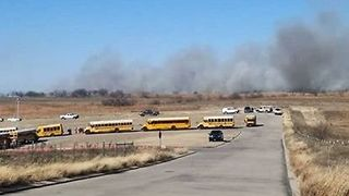 Schools Evacuate as Parker County Brush Fire Approaches - Video