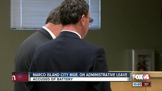 Amid battery charges, Marco Island manager put on leave - Video