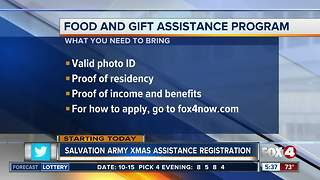 Salvation Army starts Christmas assistance program - Video