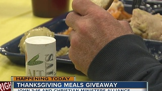 John 3:16 and other local agencies to give out free Thanksgiving meals