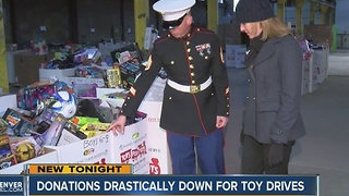 Donations drastically down for toy drives
