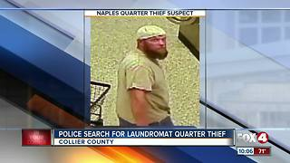 Man accused of stealing quarters from laundromat