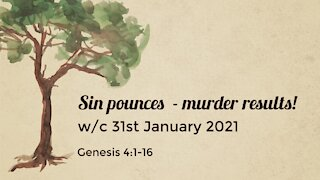 Sin pounces - murder results!