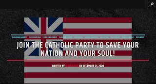 Join The Catholic Party To Save Your Nation and Your Soul!