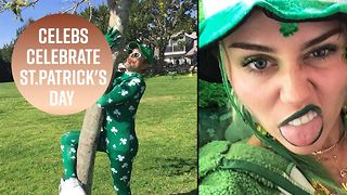 Stars go green this St Patrick's Day