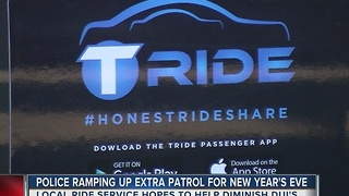 Police encourage ride service for New Year's Eve