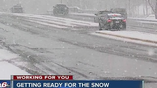 Road crews, police prepare for Thursday morning snow - Video