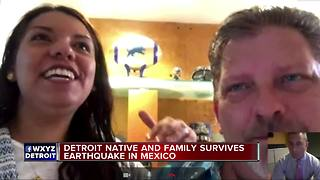 Metro Detroit husband and wife describe scary earthquake ordeal in Peubla