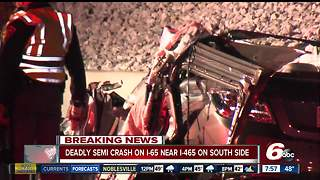 Debris from Indianapolis semi rollover kills unrelated driver - Video
