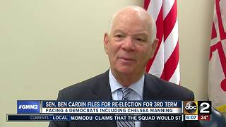 Sen. Cardin files for re-election, faces Chelsea Manning - Video
