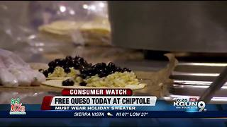 Free queso today at Chipotle - Video