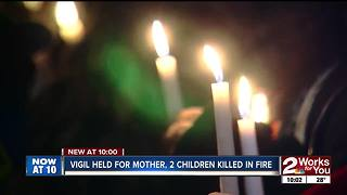 Candlelight vigil for Porum family killed in fire - Video