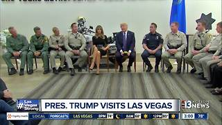 President Trump visits Las Vegas after mass shooting - Video