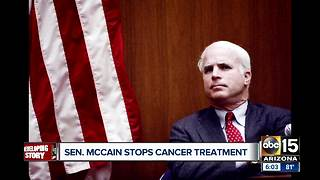 John McCain stopping cancer treatment - Video