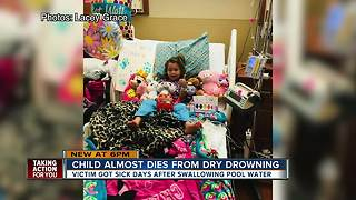 Child almost dies from dry drowning - Video